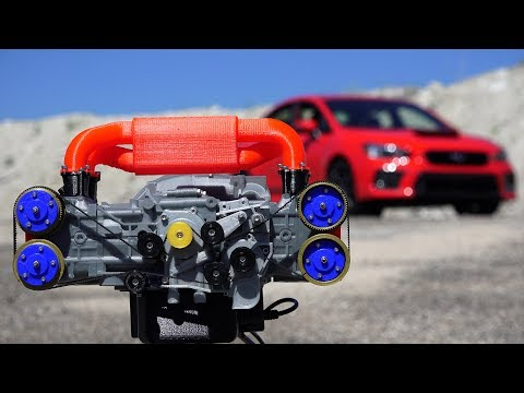 3D Printed Subaru WRX Engine - How Boxer Engines Work