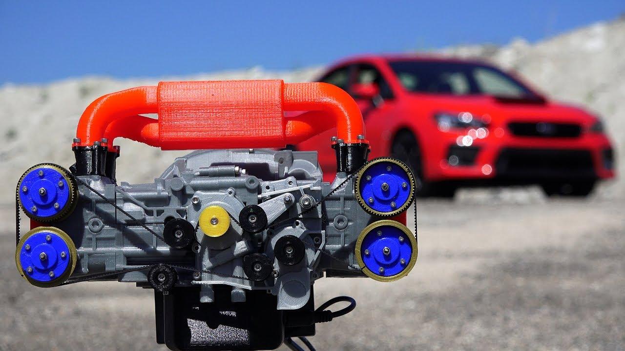 3d printed subaru wrx engine how boxer engines work [ 1280 x 720 Pixel ]