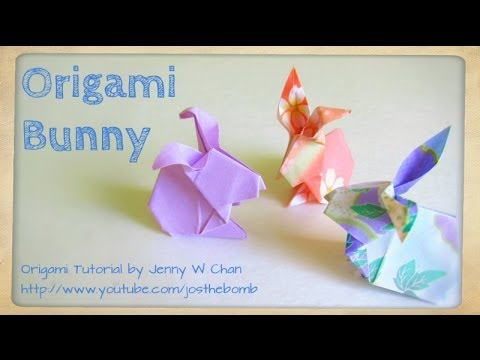 Easter Crafts How To Fold Origami Rabbit Bunny Paper Easter
