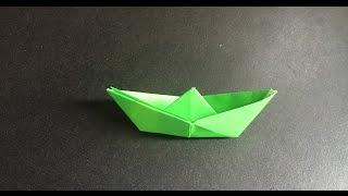 Origami for kid 兒童摺紙 : A boat 小船 摺紙教學
