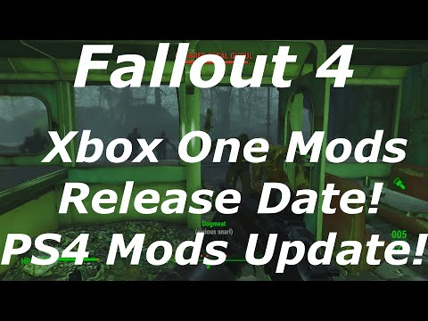 Fallout 4 Xbox One Mods Release Date! PS4 Mods Update! (Fallout 4 Modding News)