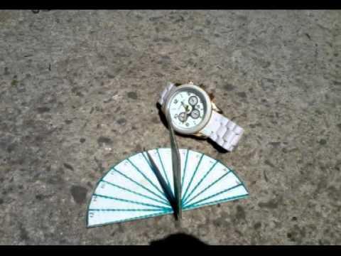 3b3a6482f41 Como fazer um relógio de sol - YouTube