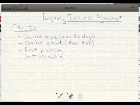 Llqp Temporary Insurance Agreement Youtube