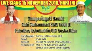 Download Video LIVE SIANG 15 NOVEMBER 2018! Ustadz Abdul Somad Lc.MA di UIN Suska Riau, MASJID AL-JAMI'AH PEKANBARU MP3 3GP MP4