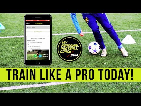 Train Like A Professional Soccer Player - Get The My Personal Football Coach App