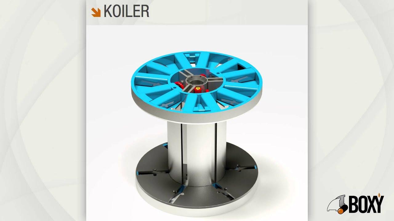 Boxy Spa: take apart reels for metallic wire - Koiler - YouTube