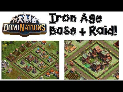 DomiNations Android/iOS Game IRON AGE BASE DEFENSE LAYOUT + RAID!