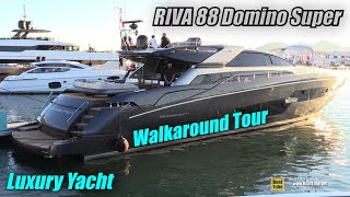 2019 Riva 88 Domino Super Luxury Yacht - Deck Interior Walkaround - 2018 Cannes Yachting Festival