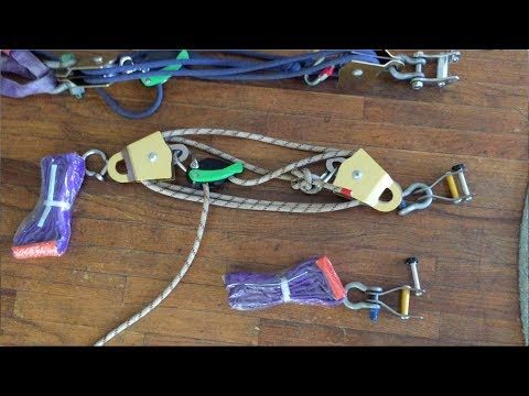 How to build a pulley system for a trickline setup