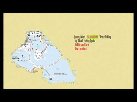 Quarry Lakes Trout Fishing - Horseshoe Lake -Top 5 Bank Fishing Spots