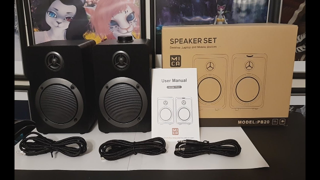 2019 11 10 Unboxing Mica House Pb20 Usb Powered Computer Speakers Surround Sound 3 5mm Aux Pc In Youtube