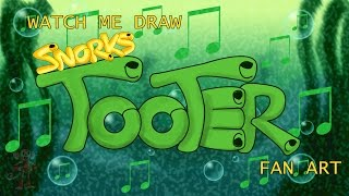 TOOTER (from the Snorks) -speed drawing