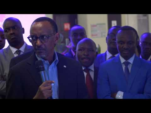 H E Kagame inaugurates CHIC and Kigali Heights Buildings