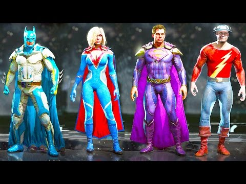 INJUSTICE 2 All Costumes Skins Alternate Skins Shaders