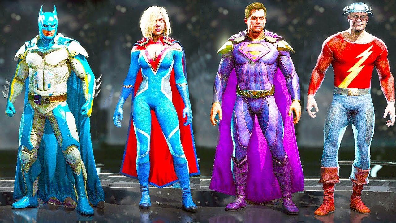 INJUSTICE 2 All Costumes Skins Alternate Skins Shaders  sc 1 st  YouTube : superman alternate costumes  - Germanpascual.Com