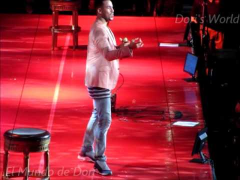 Romeo Santos entertains his fans at Amalie Arena in Tampa, Fla. during his Vol. 2 tour