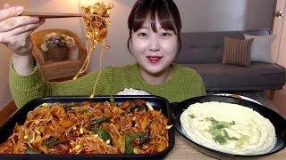 대패삼겹살로 만든 콩나물 불고기 계란찜 먹방 Spicy Bean Sproutandamp Pork Belly Bulgogi Mukbang Eating Sound
