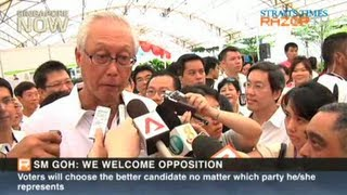 SM Goh encourages opposition to challenge the PAP