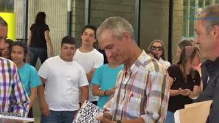 O mestre Francisco Salgado deixa o centro tras 34 anos de docencia