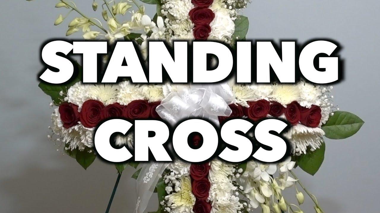 How to make a standing cross arrangement youtube how to make a standing cross arrangement classy flowers izmirmasajfo