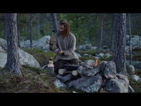 Making a permanent bushcraft camp - blacksmith shop - [part 3 - long version]