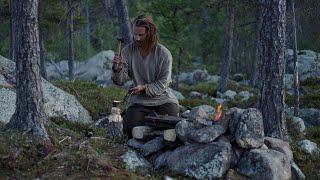 Bushcraft trip - making blacksmith shop - permanent tipi camp series - [part 3 - long version]
