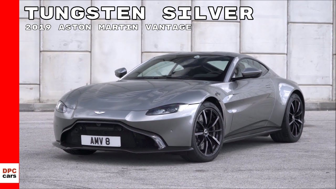 2019 Aston Martin Vantage Tungsten Silver Youtube