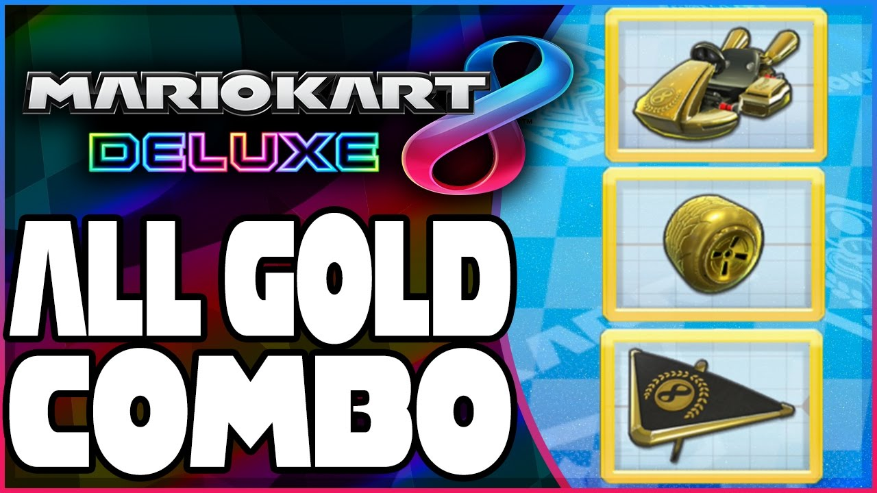 How To Unlock Gold Kart Gold Tires Gold Glider In Mario Kart 8