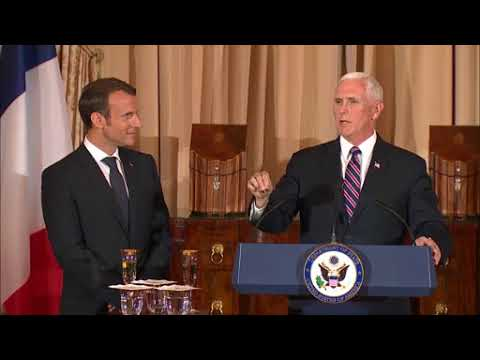 DFN:Acting Secretary Sullivan and Vice President Pence, host a State luncheon in honor, 04.24.2018