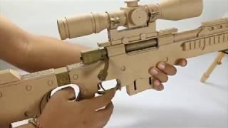AWM & Scope 8X   Hướng dẫn chế tạo súng bằng giấy giống Game PUBG