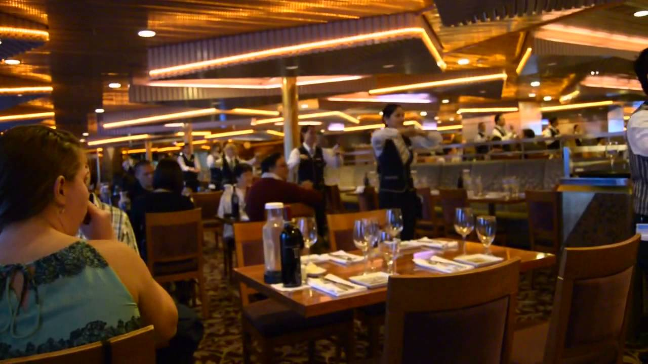 Dancing Crew At Pride Dining Room Carnival Cruise 2014 Youtube