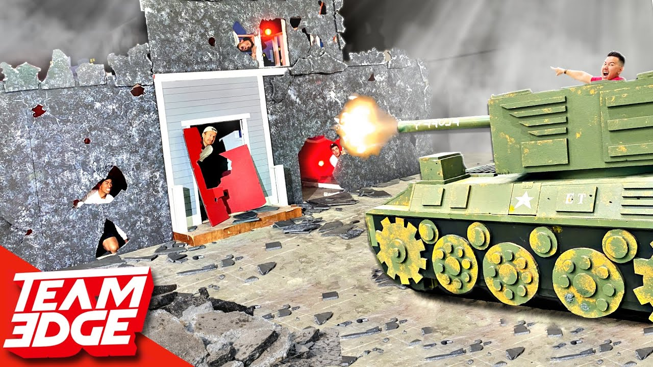 BLAST the Person Behind the Wall! | TANK Edition!
