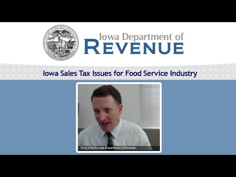 Iowa Sales Tax Issues for Food Service Industry | Terry O'Neill