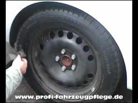 Wirkung Von Gummipflege Auf Alten Reifen Youtube