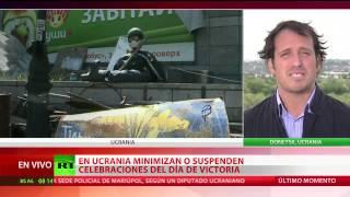 Combates en la ciudad de Mariupol en el Día de la Victoria