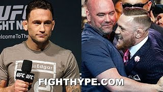 """CONOR MCGREGOR TELLS DANA WHITE TO MAKE FRANKIE EDGAR DECEMBER CLASH & """"GIVE MY PURSE TO CHARITY"""""""