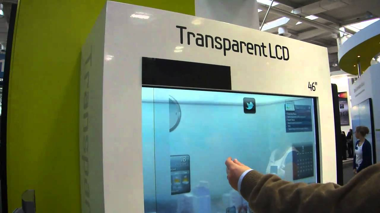 samsung transparent screen display cebit 2011 youtube