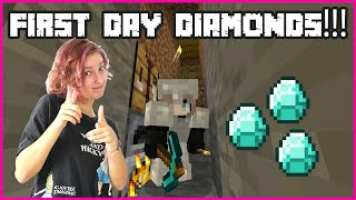 FINDING DIAMONDS ON THE FIRST DAY!!!
