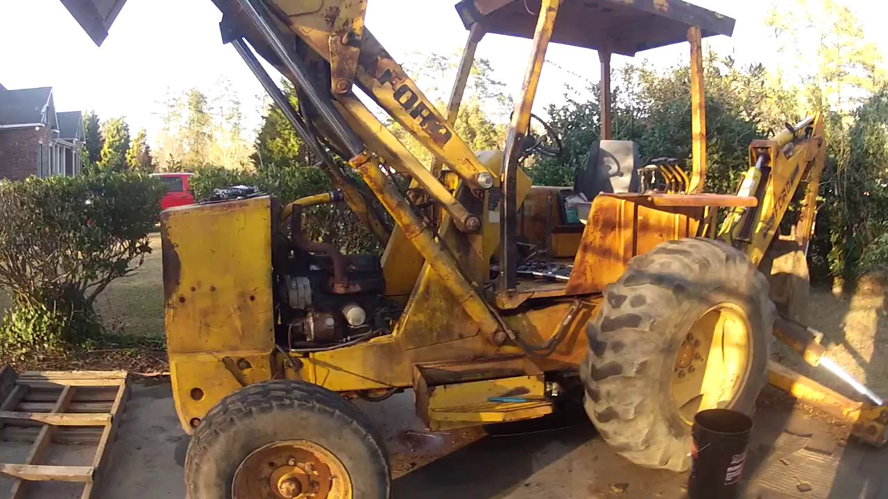 Ford 555 Backhoe Air Cleaners : Ford backhoe transmission issues part tearin