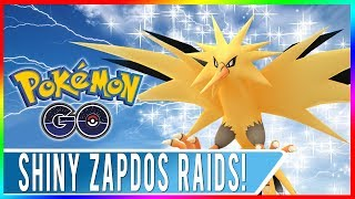 WORLD'S FIRST EVER ZAPDOS DAY IN POKEMON GO! Shiny Zapdos Released Plus 5 Free Raid Passes!