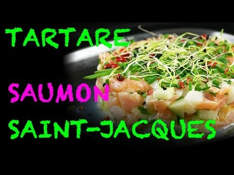 Tartare de saumon aux saint-jacques