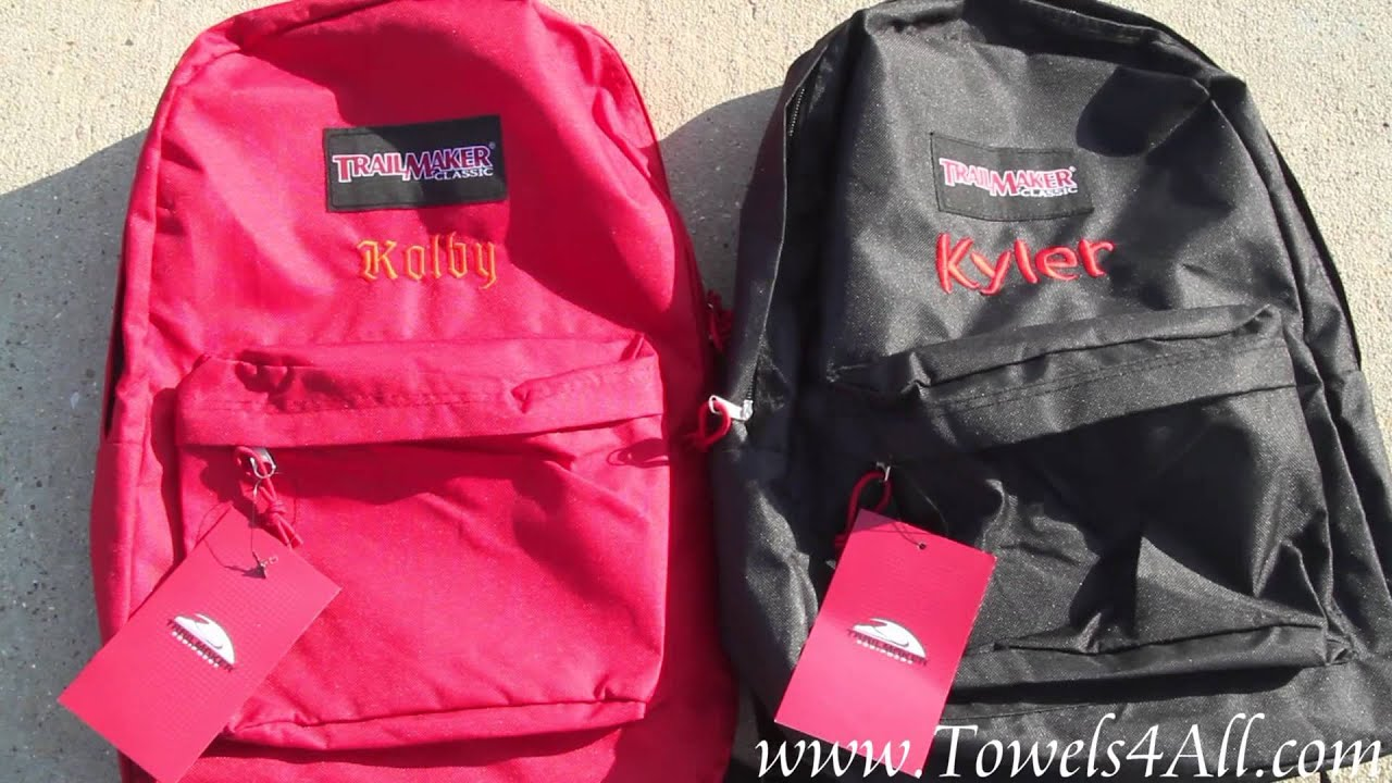 Personalized Embroidered Backpack 17 Inch  Video Clip