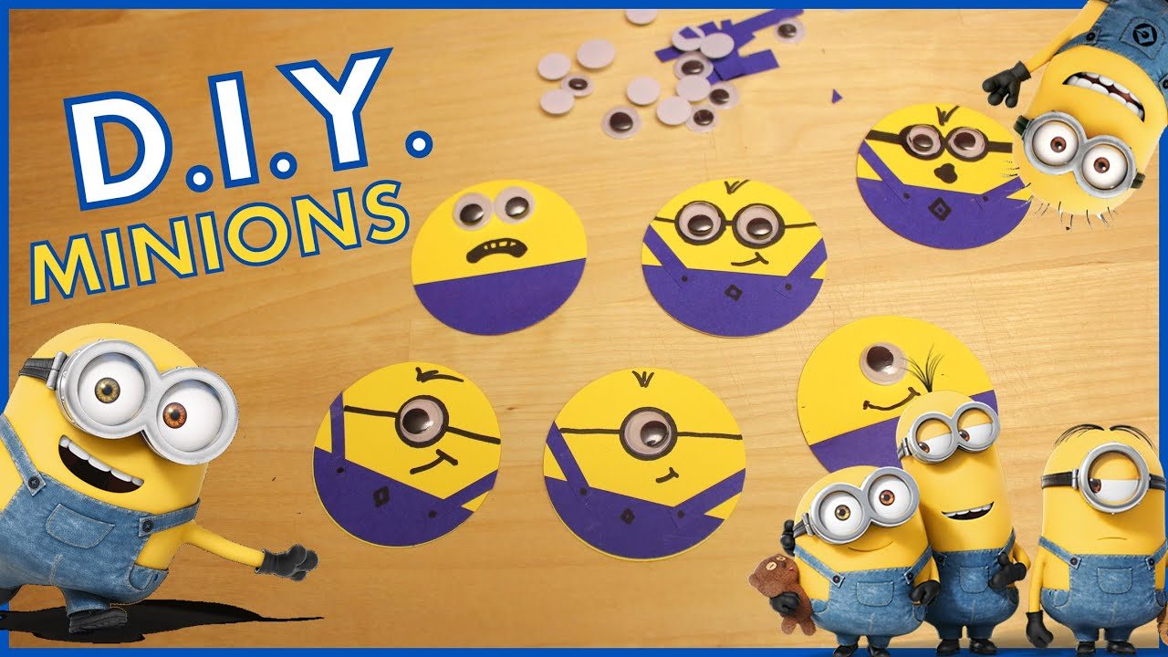 Minion Party Diy Cardstock Minions Diy Minion Party Decortions Youtube