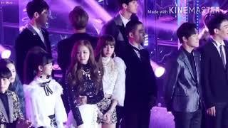 EXO × BLACKPINK FANCAM @SBS GAYO DAEJUN2017