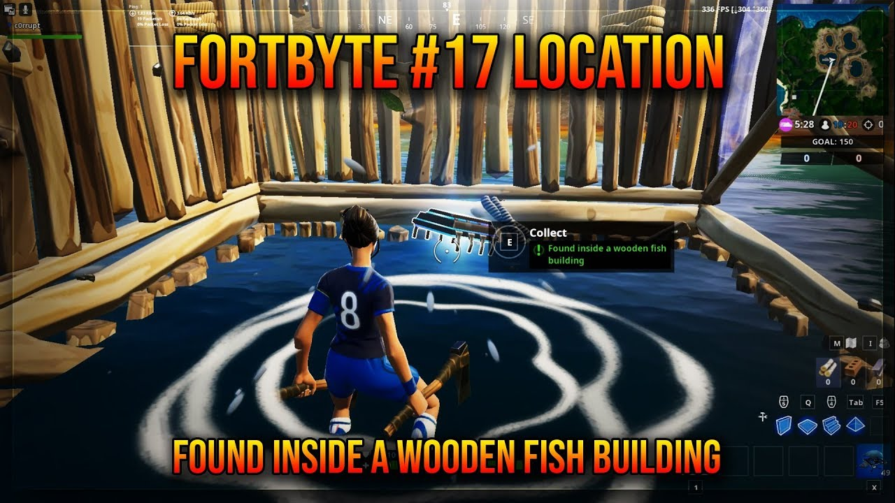 Fortbyte 17 Location Found Inside A Wooden Fish Building