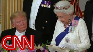 Watch the Queen's toast to President Trump