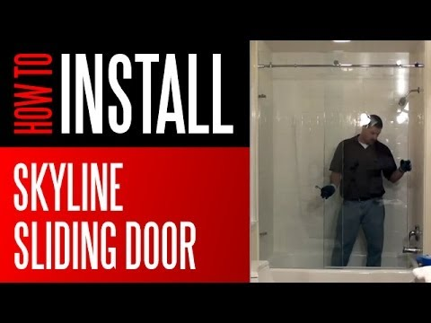 Shower Install Skyline Series Sliding Door Enclosure Youtube