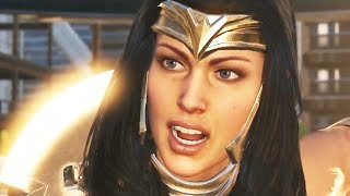 Wonder Woman Full Movie Injustice 2 The Amazon Princess Theme Best Moments All Cutscenes Game Movie