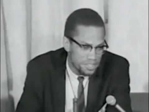 MALCOLM X - RETURNS FROM MECCA (HAJJ) Complete Press Conference (ENGLISH)