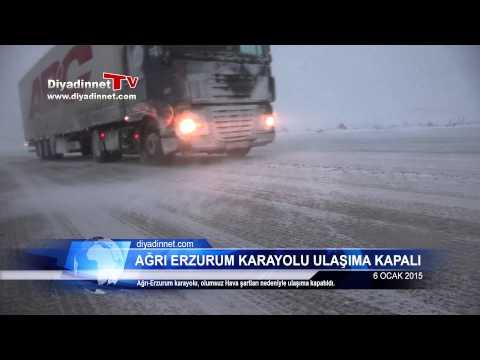 Ağrı Erzurum Karayolu Kar ve Tipi Nedeniyle Ulaşıma Kapatıldı